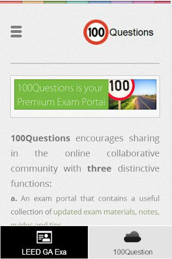【免費教育App】LEED GA Exam by 100Questions-APP點子