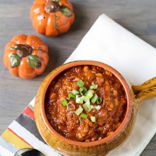 Turkey Pumpkin Chili.
