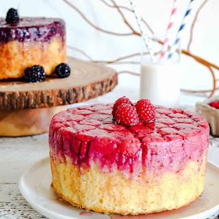 Raspberry & Blackberry almond upside down cakes
