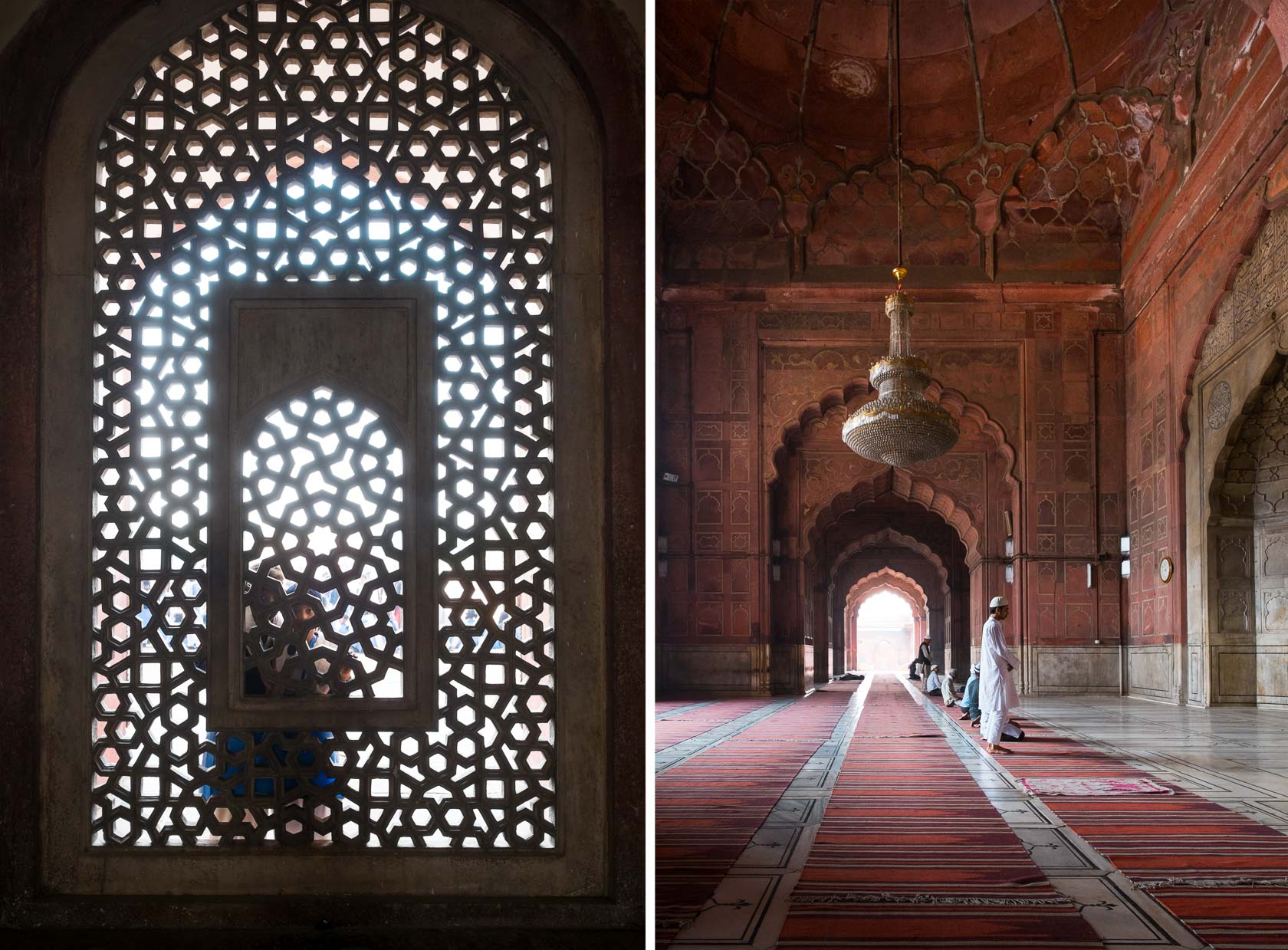 Jali Window + Jama Masjid, Delhi, India