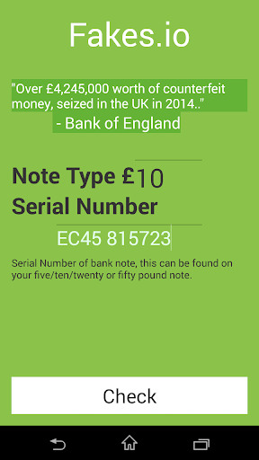 Check if your money is fake