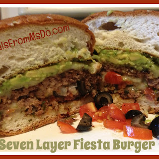 Seven Layer Fiesta Burger.