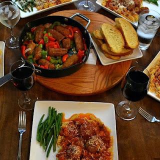 Traditional Italian Family Dinner.
