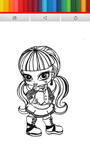 Monster Girl Coloring Book