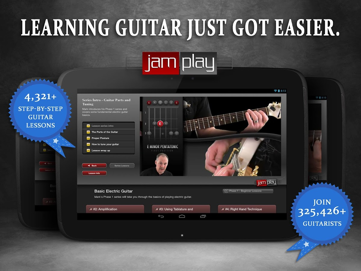 Guitar Lessons from JamPlay- screenshot