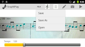 Screenshot of SnapNPlay music