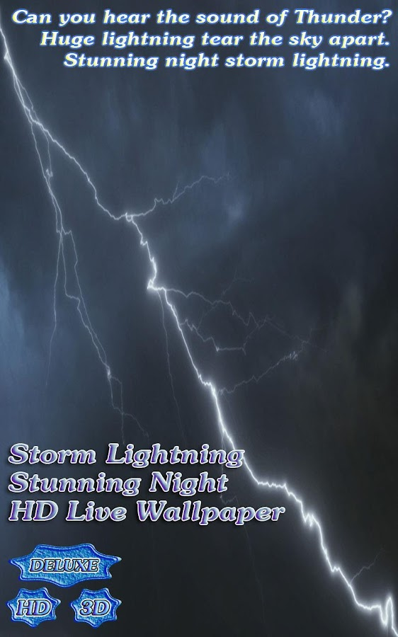 Storm Lightning Stunning Night- screenshot