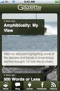Marine Corps Gazette - screenshot thumbnail
