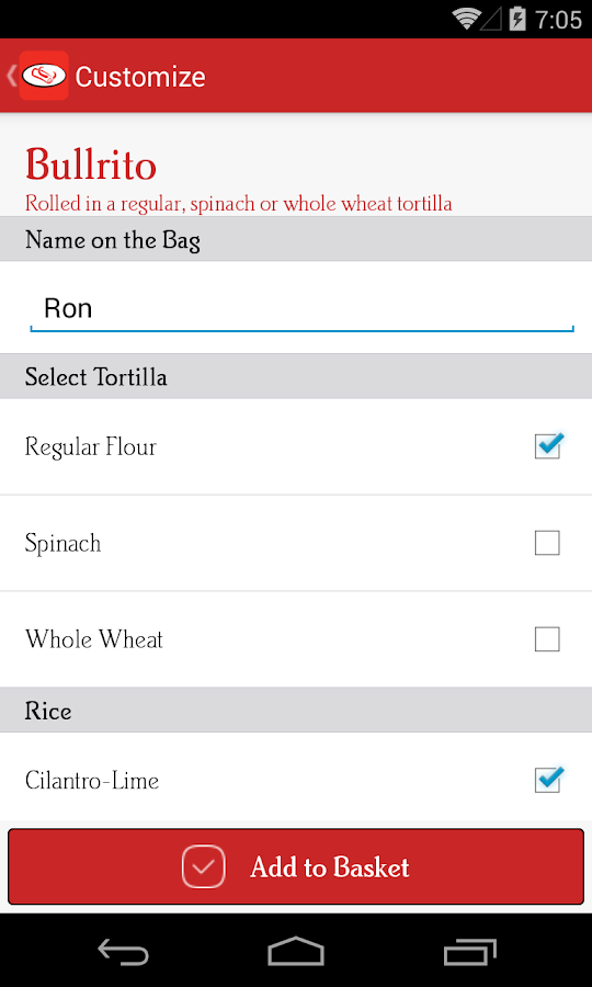 Bullritos Ordering- screenshot