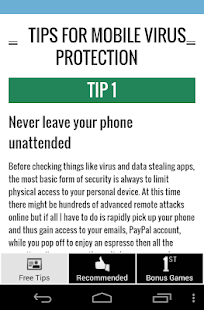 Free Tips Virus Protection