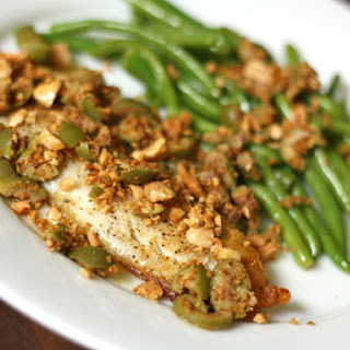 Tilapia with Toasted Almonds and Green Olives