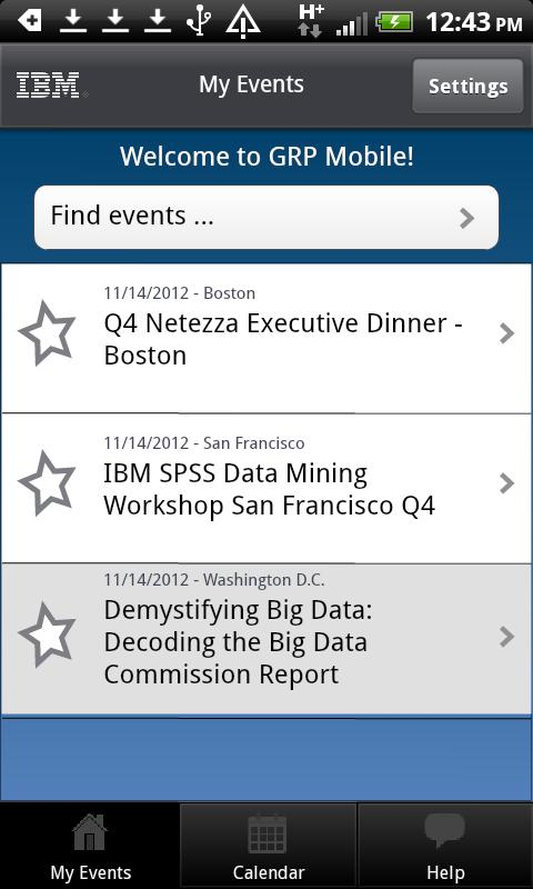 GRP Events- screenshot