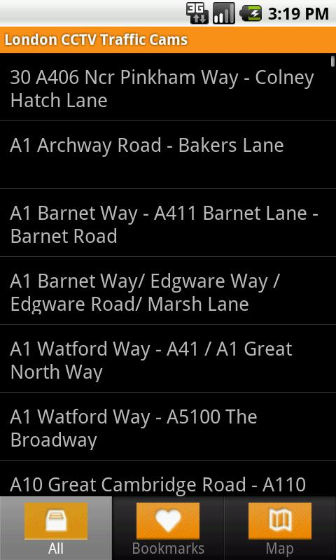 London CCTV Traffic Cams - screenshot