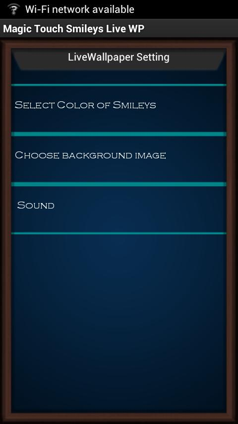 Magic Touch Smileys HD Live WP- screenshot