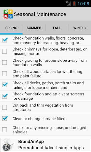 Seasonal Maintenance Checklist