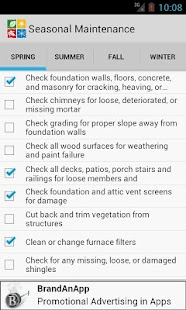 Seasonal Maintenance Checklist - screenshot thumbnail