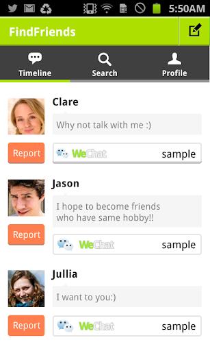 為 微信 所設計的 Find Friends