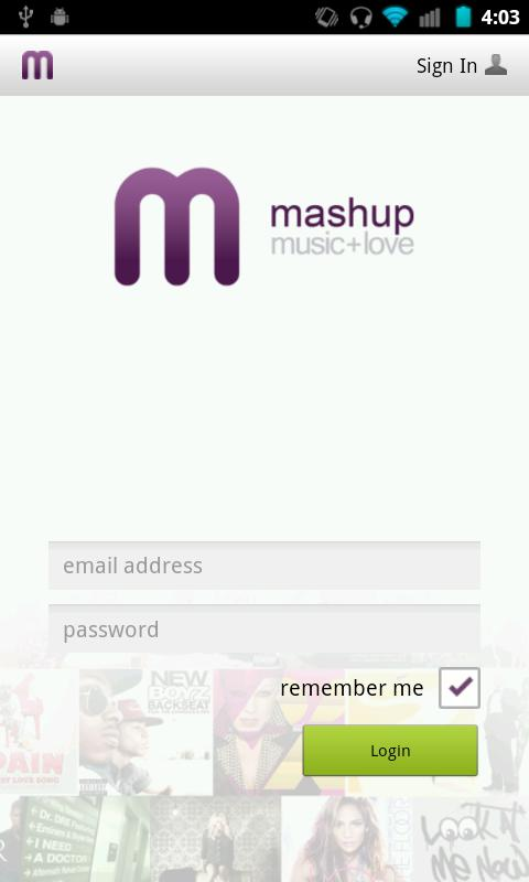 Mashup - screenshot