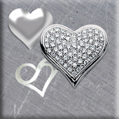Contemporary Silver Hearts