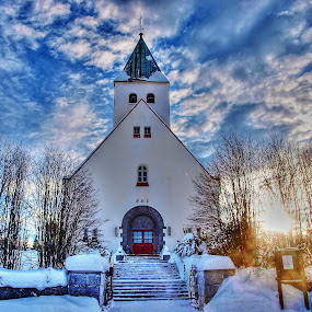 raufoss in norway by Mona Martinsen - Buildings & Architecture Public & Historical ( interior, building, freedom, church, worship, inspiring, #garyfongdramaticlight, free, #wtfbobdavis, winter, cold, snow, inspire, inspirational )