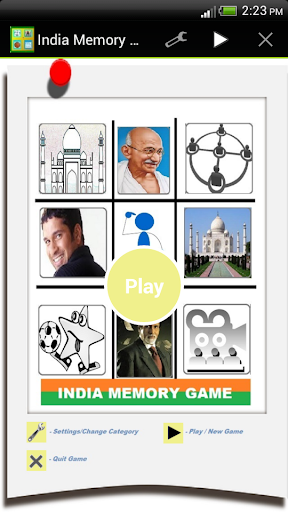 India Memory Game