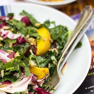 Kale, Radicchio, Roasted Potato & Chickpea Salad with a Creamy Grilled Lemon Vinaigrette
