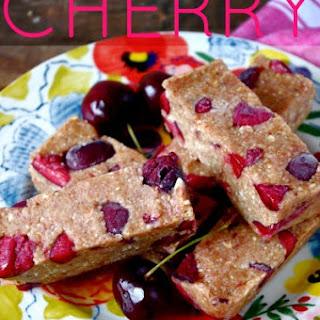 Cherry Almond Butter Bars (gluten free & vegan option!)