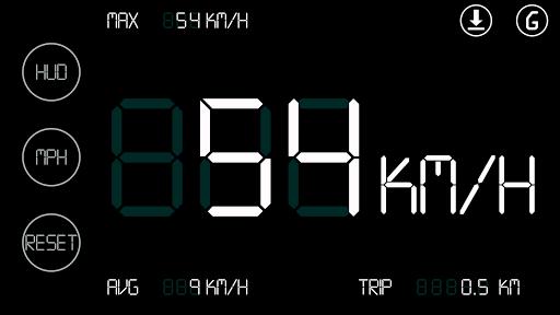 簡單的白色車速表HUD