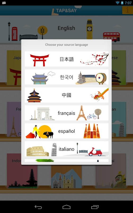 Tap & Say - Travel Phrasebook- screenshot