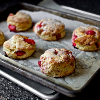 Strawberries and Cream Biscuits.