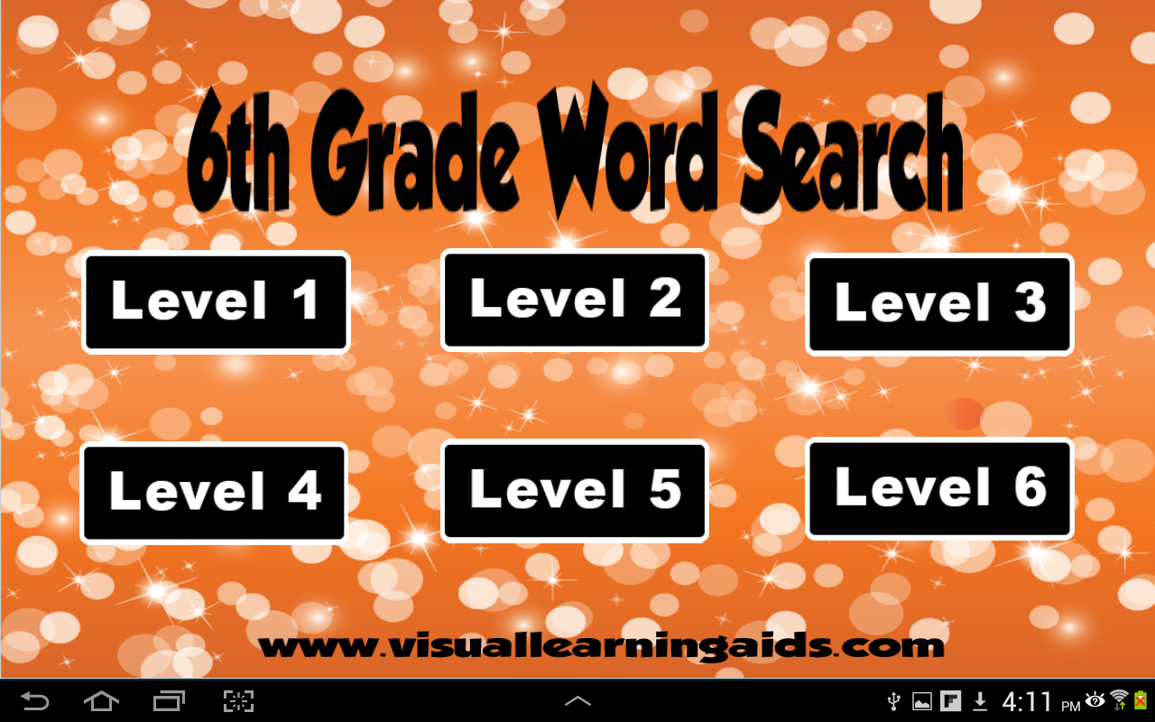 Word Search Sixth Grade- screenshot