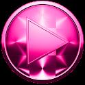 Poweramp Skin ブラシをかけられたピンク icon