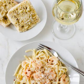 Shrimp Scampi with Fettuccine