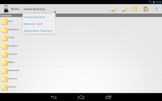 Screenshot of Mobile BASIC