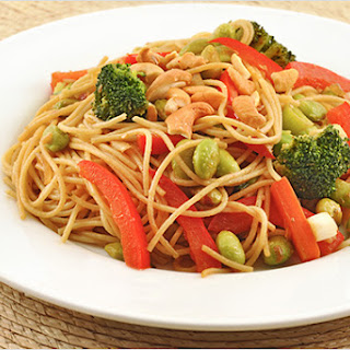 Spicy Edamame Noodle Toss.