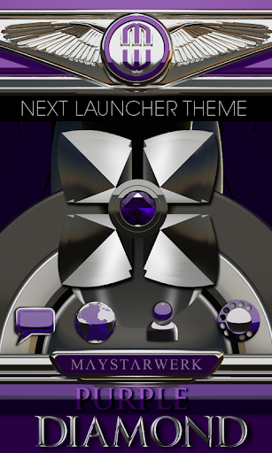 Next Launcher theme Purple Dia