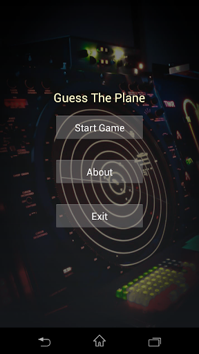 Guess The Plane. Quiz game