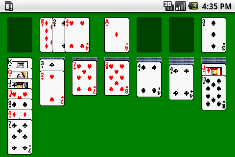 solitaire card game - screenshot