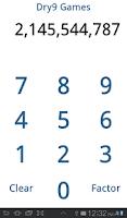 Screenshot of Factor Calculator