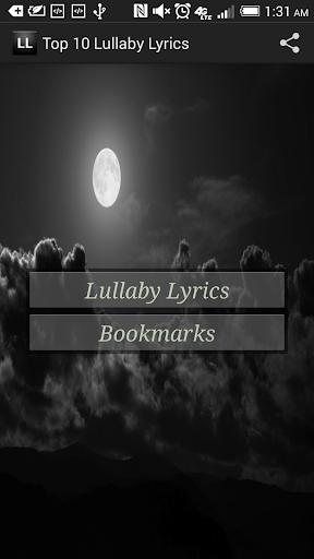 Top Ten Lullabies Lyrics