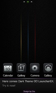 Dark GO Locker Theme - screenshot thumbnail
