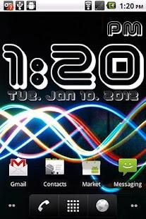 Digital Clock Widget Xperia - Devilangel Android商店| Aptoide ...
