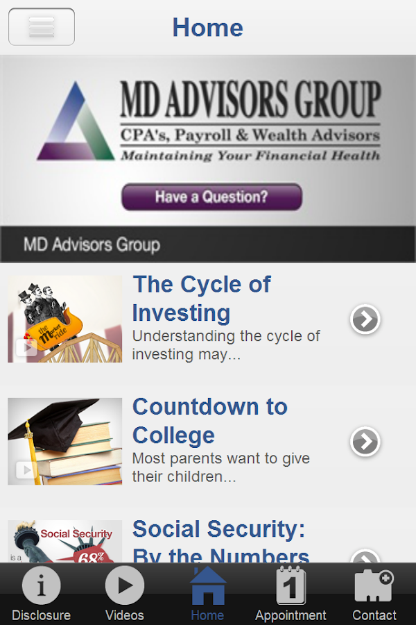 MD Advisors Group- screenshot