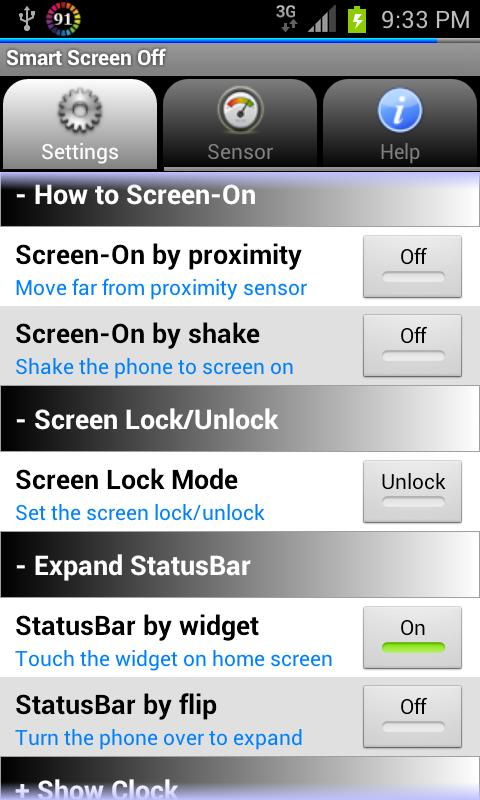 Smart Screen Off (Flip Cover)- screenshot