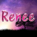 Renee pink sticker logo