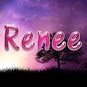Renee pink sticker logo