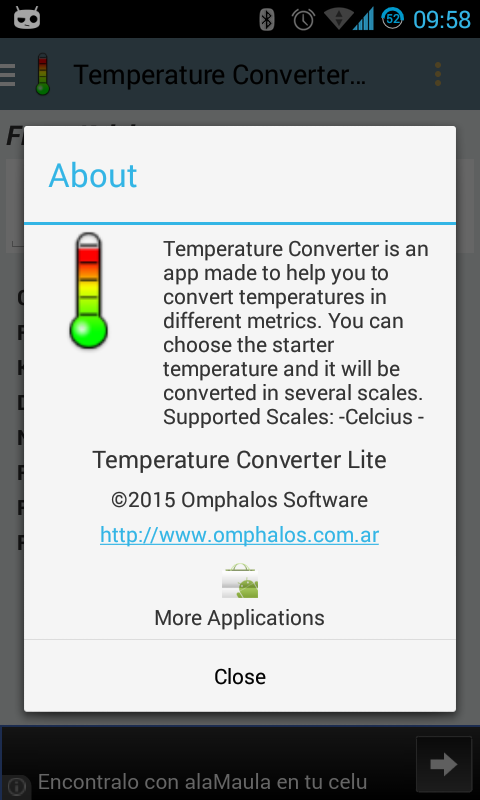 Temperature Converter Lite- screenshot