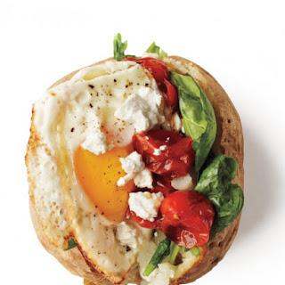 Roasted-Tomato Potato with Fried Egg.