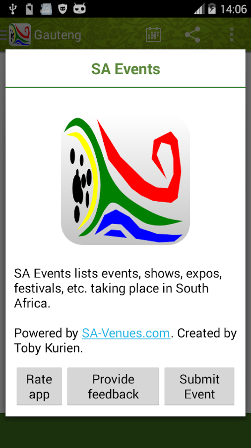 SA Events - screenshot