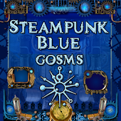Blue Steampunk GoSMS Pro Theme